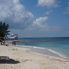 Our Seven Mile Beach view, looking south to George Town where the cruise ships dock.