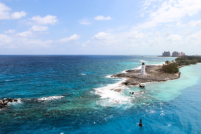 Arriving in Nassau, Bahamas.