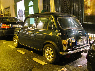 Austin Mini Cooper (original) probably from the 70s or 60s.