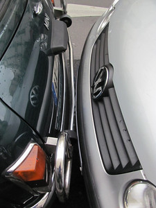French parking job.