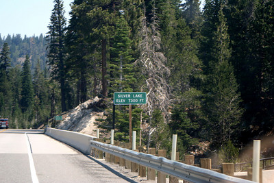 7/9/07 Heading east on Hwy 88 (Carson Pass Rd) from Silver Lake to Caples Lake. El Dorado National Forest, Central Sierras, Amador County, CA