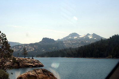 7/9/07 Passing Caples Lake on Hwy 88E (Carson Pass Rd). El Dorado National Forest, Central Sierras, Alpine County, CA