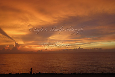 Cartagena Sunset, taken from the wall of the Old City of Cartagena. This image is stunning when printed on metallic photo paper.