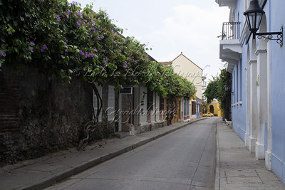 Street in the old city of Cartagena