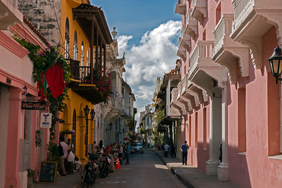 "Street in ""old town"" Cartagena"