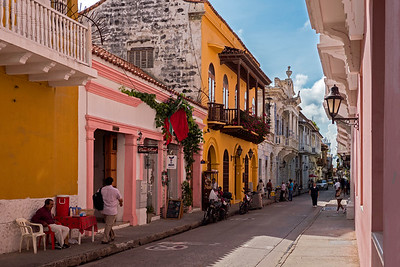 """Street in """"old town"""" Catagena"""