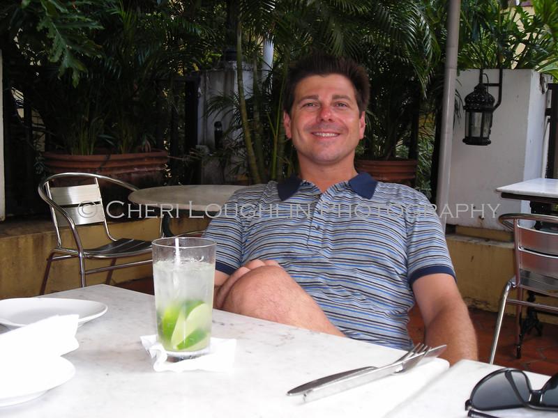 Joe Gerbino with Mojito at El Picoteo Bar de Tapas in Old San Juan