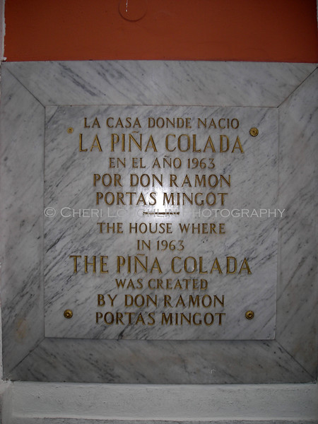 Pina Colado birth in Old San Juan
