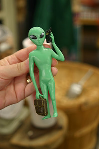 This is a different Mr. Alien from my usual Mr. Alien. This one apparently has a career other than taking over the Earth. Or maybe he's just the Earth Taking Over Middle Manager.