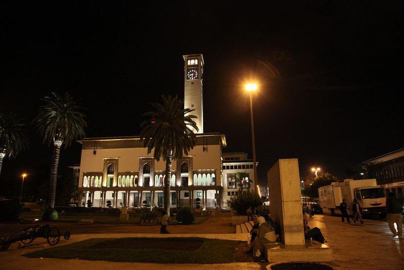 This is the famous 'Clockhouse' in Casablanca..