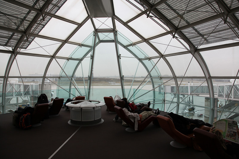 Hall 2 of Charles the Gaulle airport, Paris. They have nice lounge chairs here....