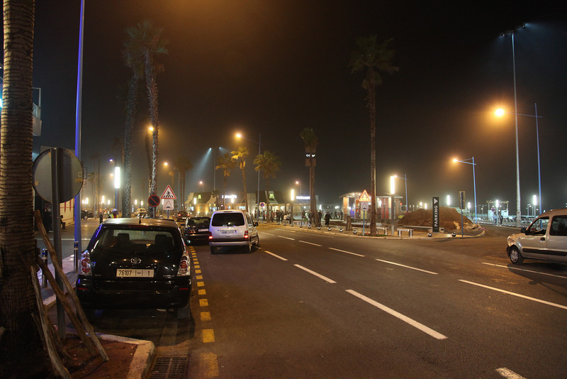 Casablanca Boulevard by night..