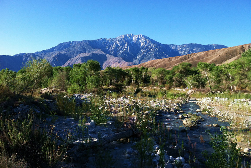 San Jacinto peak, while standing on the Whitewater floodplain