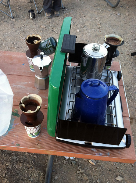 Coffee setup for breakfast