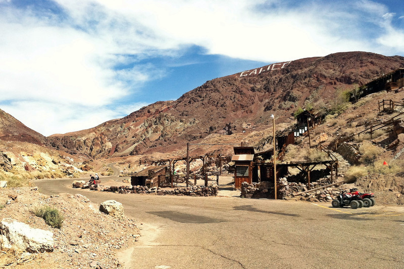 Calico ghost town on the right
