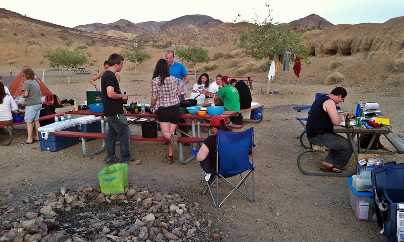 Camp after the day's work in Calico