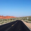 Driving into the Valley of Fire, Nevada