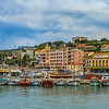 Colorful boats in Cassis harbor