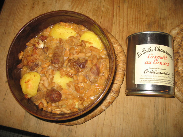 Cassoulet from Scott and Alyssa, and baked zucchini