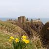 Dadas las obvias cualidades defensivas de Dunnottar Castle, no es sorpresa encontrar que ha sido lugar de fortificaciones de un tipo u otro por gran parte de los ultimos dos mil anos. El nombre Dun viene del idioma Picti y significa fuerte.