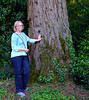 Jan and the very old sequoia tree (from California).