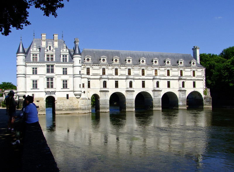 Chenonceau is famous for its spanning the Cher River.  It was built so the Queen could hunt on the other side of the river.  At his expense, the owner converted the castle to a hospital during WWI.