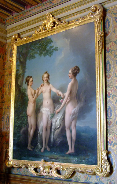 """The Three Graces"" by Carl Van Loo - the sisters, all lovers of King Louis XV."