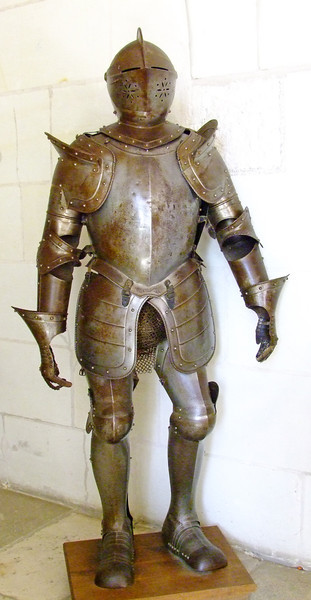 Medieval armor at the Amboise Castle