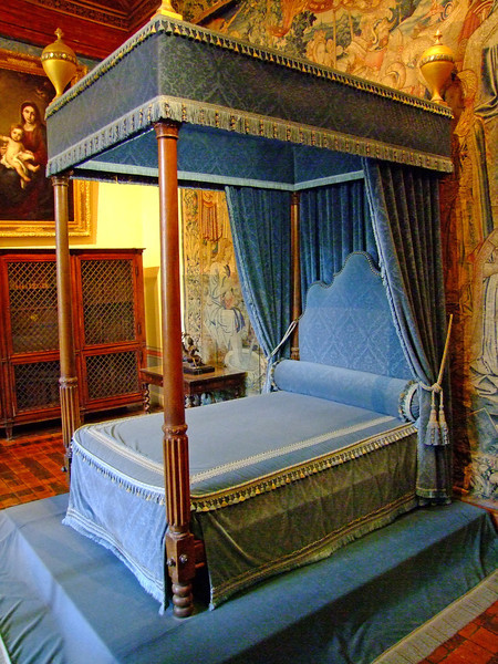 A royal bed chamber.