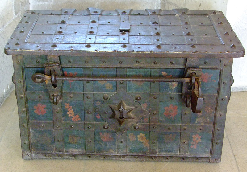 Locked trunk from the Middle Ages