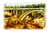 The bridge over Castlewood Canyon in Colorado; detail in this image is best viewed in a larger size.