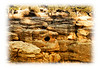 Rock formations in Castlewood State Park in Colorado; detail in this image is better viewed in a larger size.