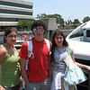 Marissa, Alex and Alicia waiting to get on the ferry.
