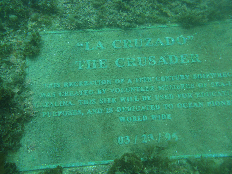 Underwater plaque.