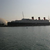 The Queen Mary in Long Beach harbor.