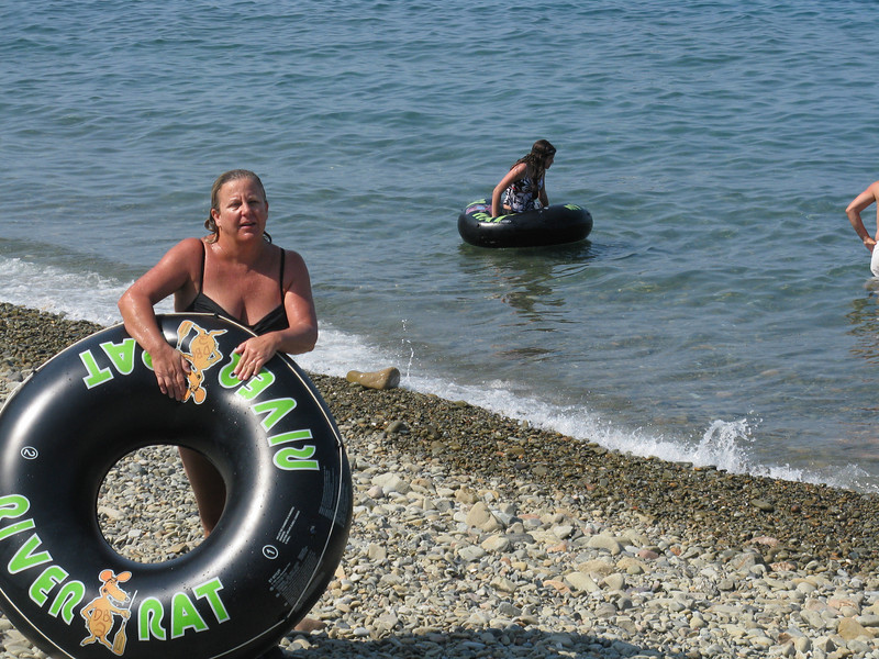 Danette Meylink with the tube.
