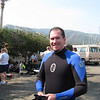 Bruce suiting up for diving.