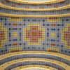 Looking up at the tile work on the inside of the memorial.