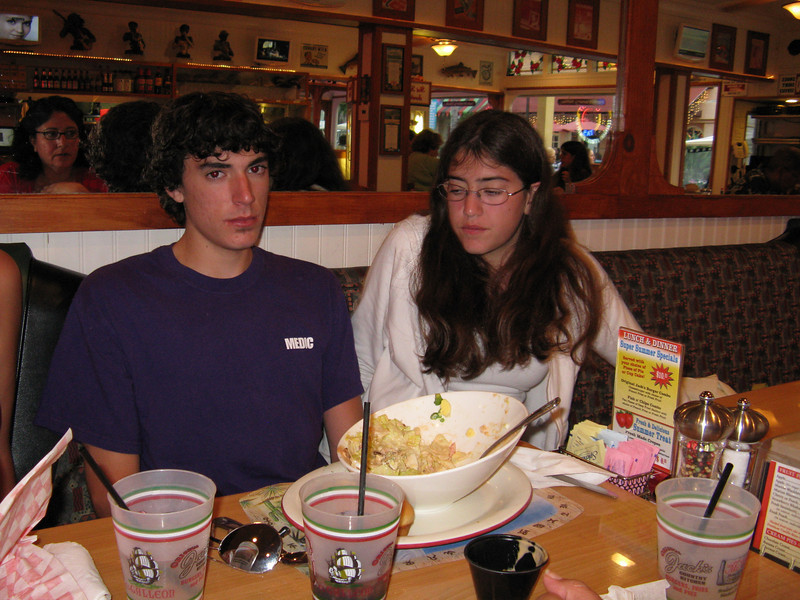 Alex and Alicia at the restaurant for dinner.