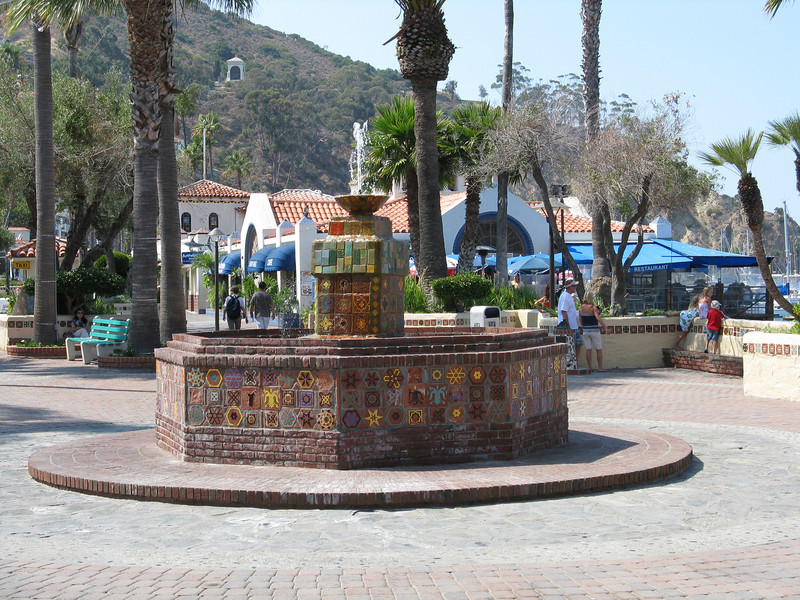 Fountain on the Crescent.