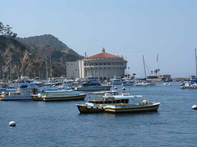 Looking across Avalon harbor to the Casino.