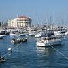 The Casino Ballroom and the marina at the Catalina Island off the coast of Southern California.