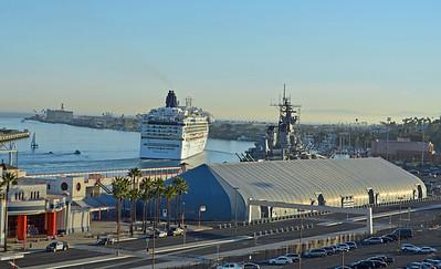 Star Departing past the USS Iowa Battleship
