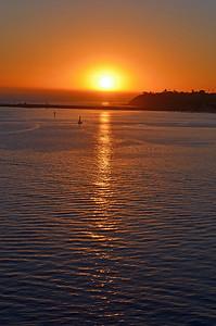Sailing to Catalina into the Sun