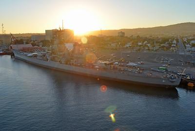 Departing San Pedro, passing the USS Iowa
