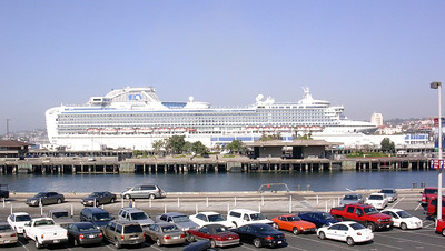 First View of the Sapphire Princess