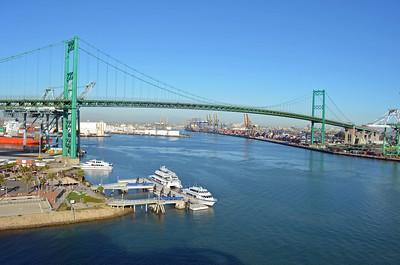 Vincent Thomas Bridge crosses the LA Channel