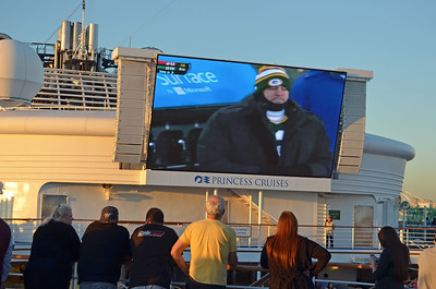 Saw the last few minutes of the Green Bay loss to San Francisco on the Big Screen