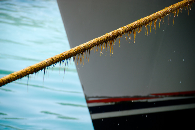 Rope holding the boat