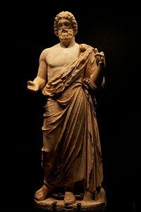 Statue of Asclepius  (Ἀσκληπιός) from 2nd century BCE, god of Medicine and Healing.